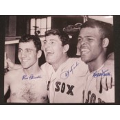 Carl Yastrzemski, Rico Petrocelli and Reggie Smith Autographed Photo