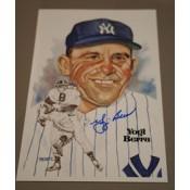 Yogi Berra Autographed Perez-Steele Art Postcard